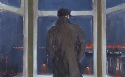 Bay Window (study) by Kevin Day - Original Painting, Canvas on Board sized 16x10 inches. Available from Whitewall Galleries